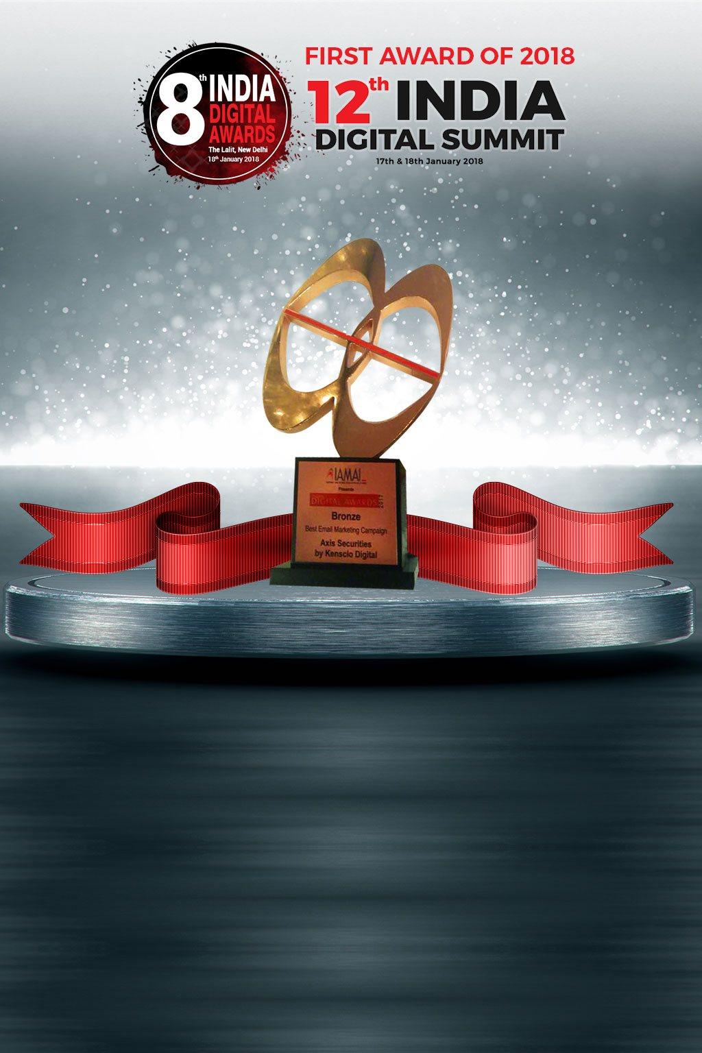 First Award of 2018 12th INDIA Digital Summit