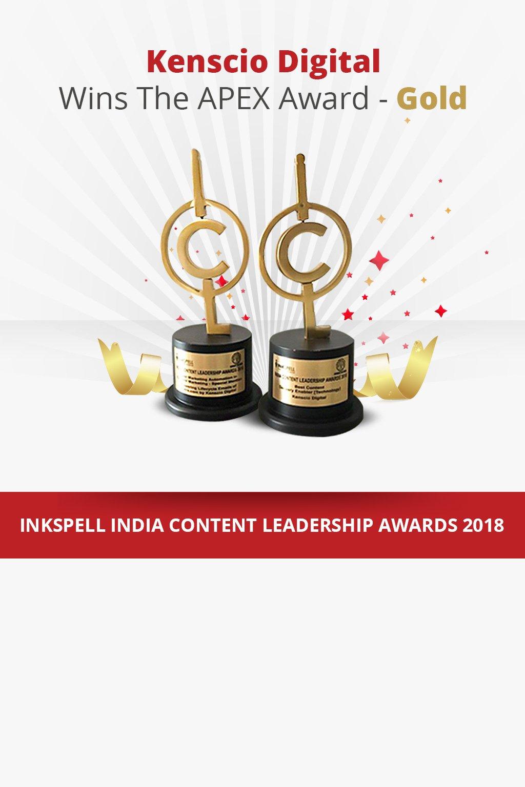 Kenscio Digital Wins The APEX Award - Gold