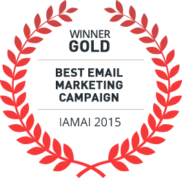 Gold Award Winner 2016, Best Email Marketing Campaign